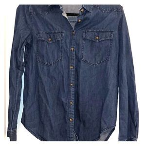 Denim Button-Up, Western Style, F21, Size Small